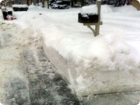 Snow By The Mailbox