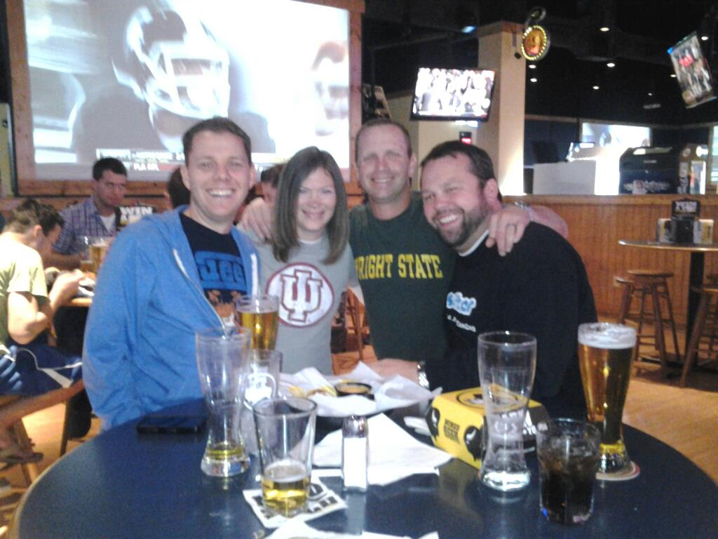 Pip, Jenny, Brian & Chewie At BW3