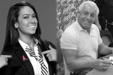 AJ Lee & Ric Flair