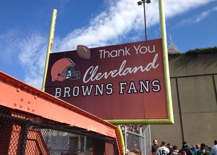 Thank You Cleveland Browns Fans