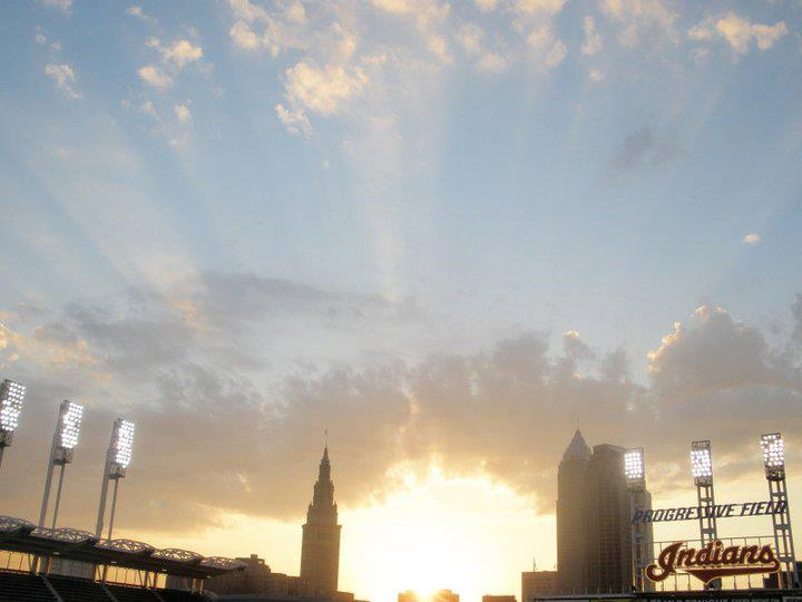 Progressive Field Sunset