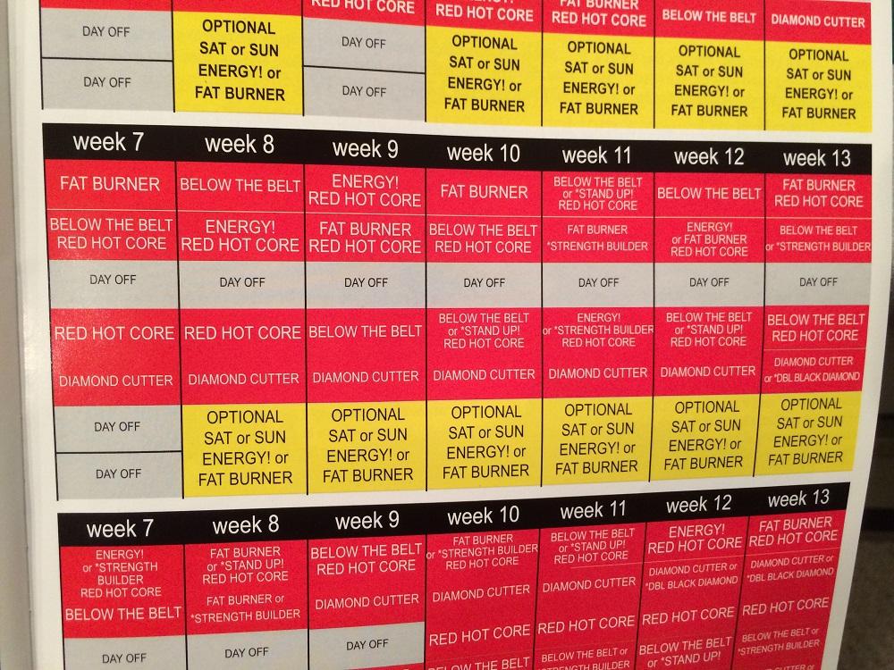 Exhilarating image regarding ddp yoga schedule printable