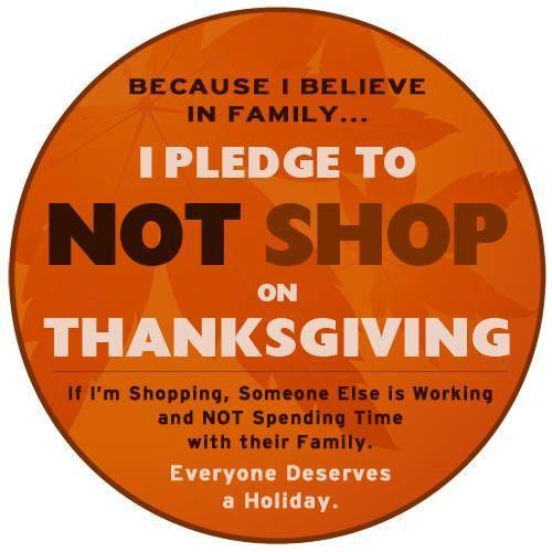 No Shop On Thanksgiving