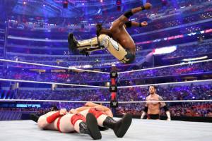 WrestleMania 32 - New Day vs LON