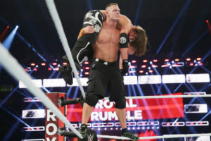 Royal Rumble 2017 John Cena vs AJ Styles