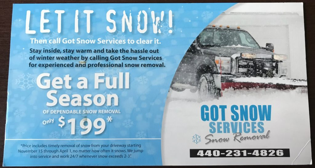 Got Snow Services 2017 Front