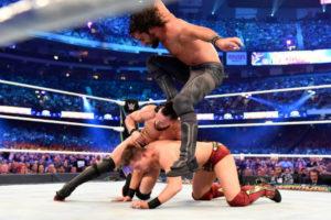 WrestleMania 34 Rollins, Balor, Miz