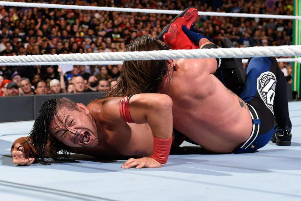Money In The Bank (2018) Styles vs Nakamura